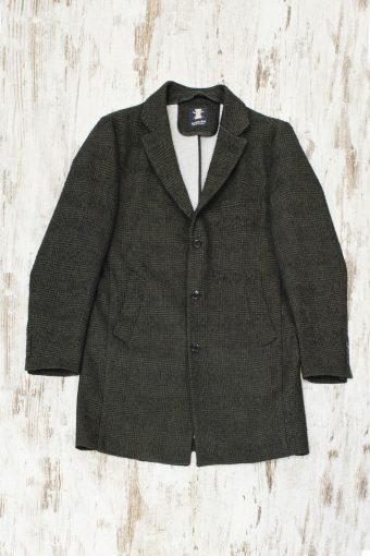 A19MJ021   0071 OVERCOAT YAN - 56%PES 9%CO 17%VI 9%WOOL 9%PAC Military Green