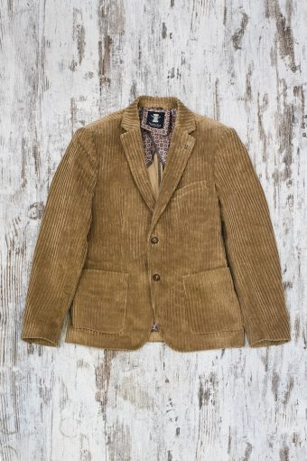 A19MJ027   0043 BLAZER CORDUROY - 97%CO 3%EA Brown Sugar