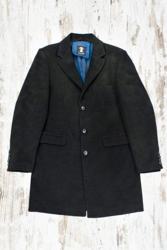 A19MJ028S  0001 OVERCOAT BASIC VINTAGE - 70%PL 27%VI 3%EA Anthracite