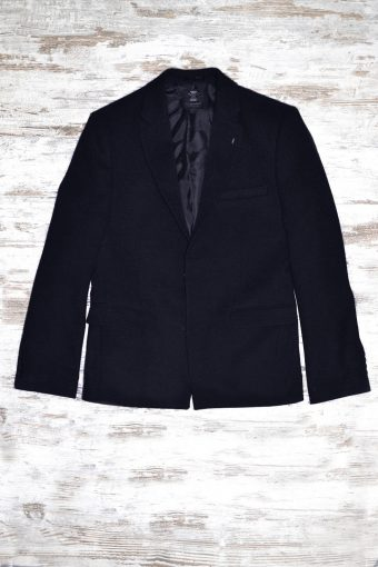 A19MJ035   0002 BLAZER ROMANTIC - 55%CO 20%VI 18%PL 5%WL 2%LY Dark Blue