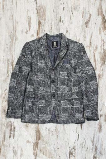 A19MJ038   9050 BLAZER CHECK ENGLISH - 98%CO 2%LY Black - White