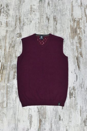 A19MM004   0083 SWEATER GILET BASIC - 80%CO 20%NY Bordeaux