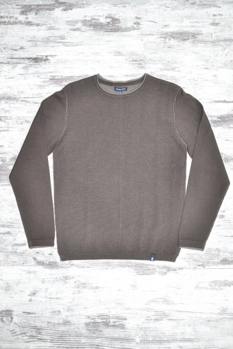 A19MM027   0069 SWEATER ROLL NECK - 40%AC 40%VI 20%NY Cord - Squirrel