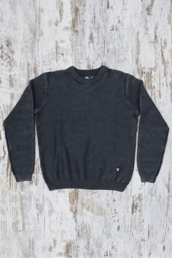 A19MM030   0001 SWEATER ACID - 100%CO Anthracite