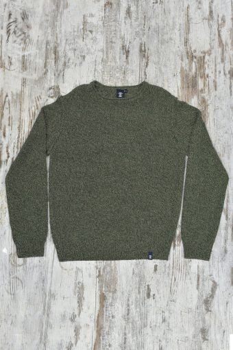 A19MM031   5381 SWEATER CREW MELANGE - 85%CO 15%AC Army Green - Piombo