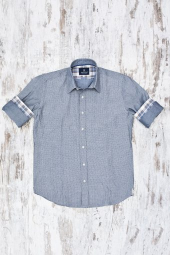 A19MS014   0061 SHIRT INDACO - 100%CO Gray