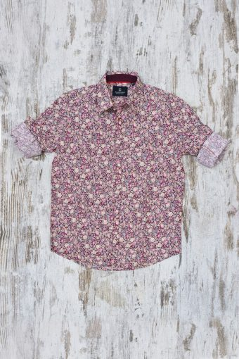 A19MS028   0094 SHIRT ROSES - 100%CO Red - Chili Pepper