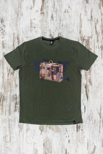 A19MT011   0071 T-SHIRT TRAVEL - 100% CO JERSEY 30/1 Military Green