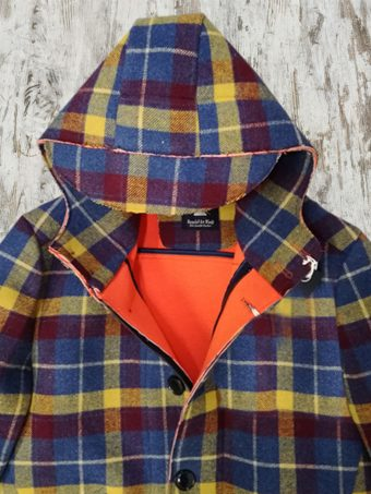 A19MJ036   2810 OVERCOAT CHECK - Blue - Yellow