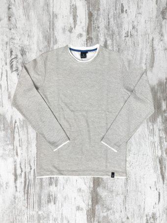 S20F003    0076 FLEECE JACQUARD - 100% CO Light Grey