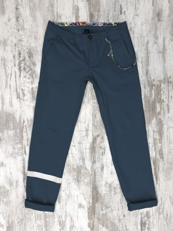 S20P027    0002 CHINO STRIPE - CO/EA Dark Blue