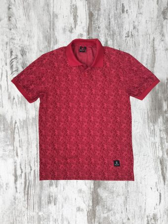 S20PS002   0094 POLO JAQUARD - 95%CO 5%EL PIQUET Red - True Red