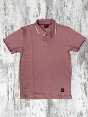 S20PS007   0067 POLO ANEMONE - 95%CO 5%EL PIQUET Rose - Woodrose