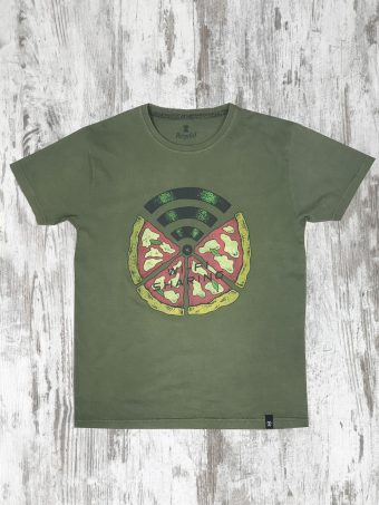 S20T037    0071 T-SHIRT WI-FI - 100% CO Military Green