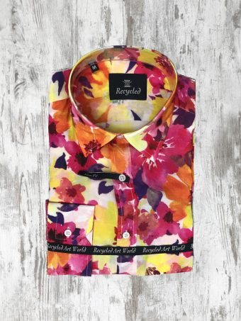 S20S008S   0010 SHIRT MIAMI SHORT SLEEVES - 100% CO VOILE Yellow