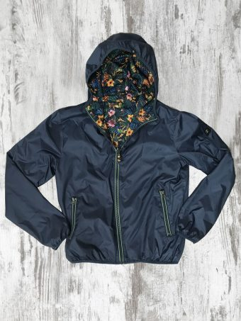 S20J001    0002 RAIN JACKET REVERSIBLE - 100% NY Dark Blue
