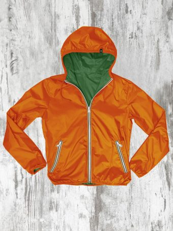 S20J006    7180 RAIN JACKET BASIC - 100%PL Military Green - Orange