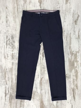 S20P014    0002 CHINO BEVERLY - 20%WO 60%PL 18%VI 2%LY Dark Blue