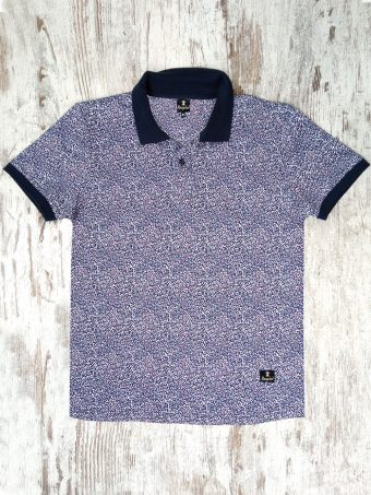 S20PS005   0002 POLO FLOWER - 95%CO 5%EL JERSEY Dark Blue