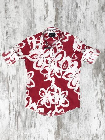 S20S010    0094 SHIRT TAMPA - 100% CO VOILE Red - True Red