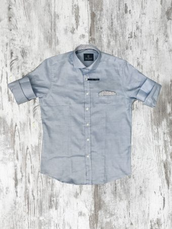 S20S014    0045 SHIRT OXFORD 02 - 100% CO Light Blue - Storm Blue