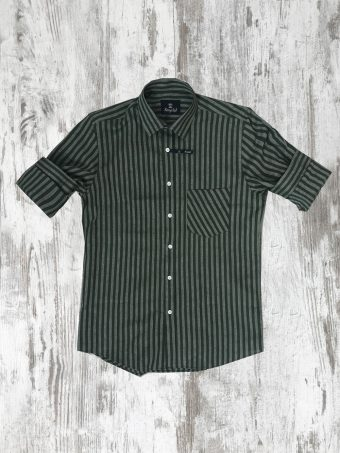 S20S028    0071 SHIRT WAKO - 55%LI 45%CO Military Green