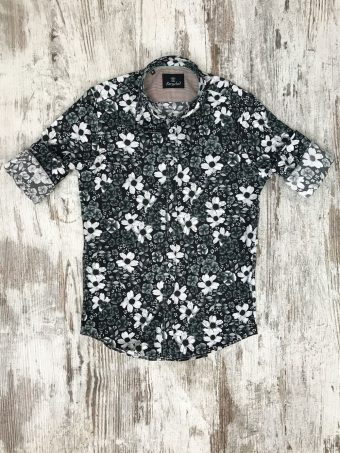 S20S040    0090 SHIRT CHARLOTTE - 97%CO 3%EA Black