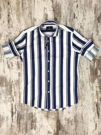 S20S045    0072 SHIRT FARGO - 97%CO 3%EA French Blue