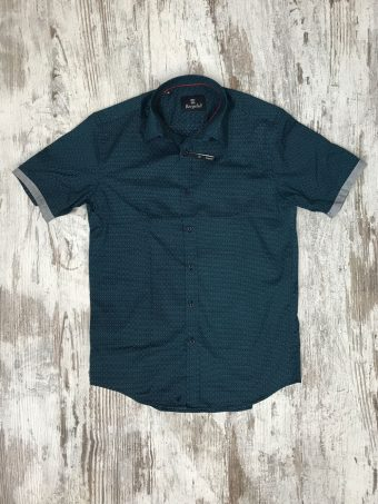 S20S046S   0002 SHIRT NEWPORT (SHORT SLEEVES) - 97%CO 3%EA Dark Blue