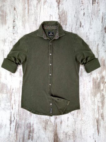 S20S049    0071 SHIRT PIQUET - 100% PIQUET CO Military Green