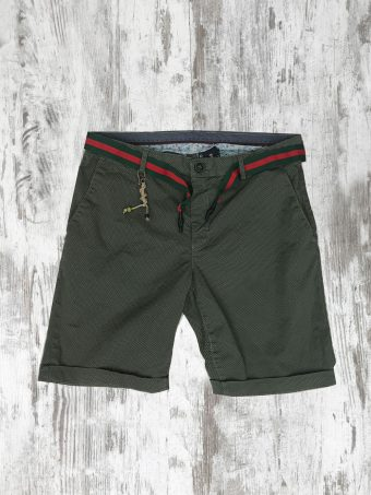 S20SH002   0071 CHINO SHORTS AOP02 - CO/EA Military Green