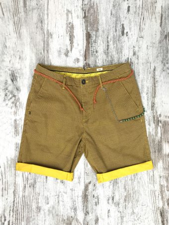 S20SH003   0010 CHINO SHORTS AOP03 - CO/EA Yellow