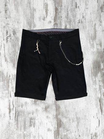 S20SH011   0002 CHINO SHORTS SENIOR - 98%CO 2%LY Dark Blue