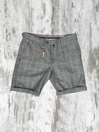 S20SH013   0061 CHINO SHORTS ELIT - 50%CO 35%PL 15%VI Gray