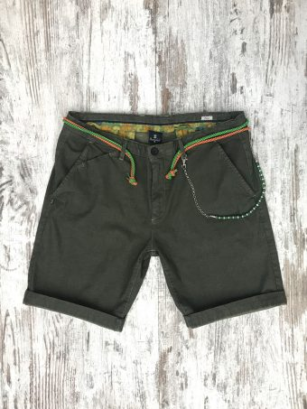 S20SH017   0071 CHINO SHORTS TRAVEL - CO/EA Military Green