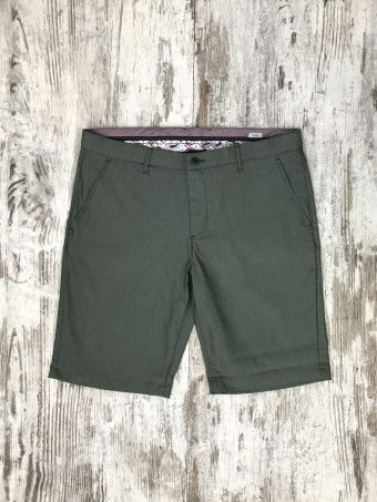S20SH020   0077 CHINO SHORTS SERI - 60%CO 38%PL 2%EA Dark Green