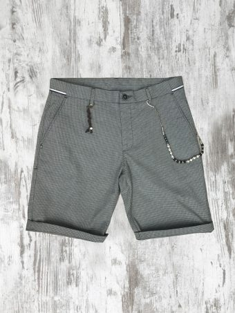 S20SH021   0061 SHORTS DOBBY - 77%CO 21%PL 2%EA Gray