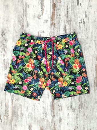 S20SW006   0002 SWIMSUIT TROPICAL - 100% NY Dark Blue