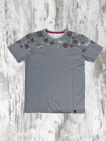 S20T047    0061 T-SHIRT ROSES - 100% CO Gray