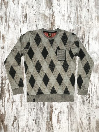 A20F008    0037 FLEECE OREGON - 50%PES 30%AC 10%CO 10%WL Gray Melange