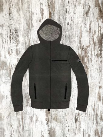 A20F014    0090 FLEECE COLORADO - 50%CO 50%PL Black