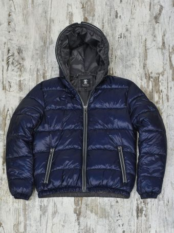 A20J025    0002 FAKE DOWN HOODY - 100%NY Dark Blue