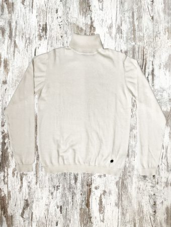 A20M003    0050 SWEATER BASIC TURTLENECK - 95%CO 5%CASHMERE Optical White