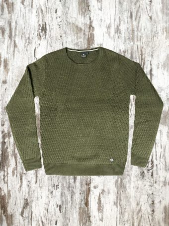 A20M011    0071 SWEATER BRISTOL - 85%AC 15%WO Military Green