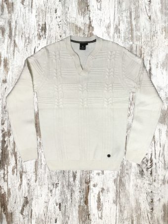 A20M015    0050 SWEATER VALLET - 85%AC 15%WO Optical White