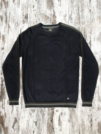 A20M021    0002 SWEATER WIGAN - 80%CO 20%NY Dark Blue