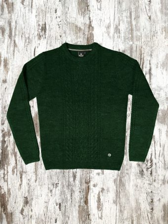 A20M024    1237 SWEATER JACK - 85%AC 15%WO Green Mountain Melange