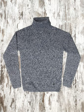 A20M026    0285 SWEATER PERTH - 70%AC 30%WO Dark Blue - Smoke Blue