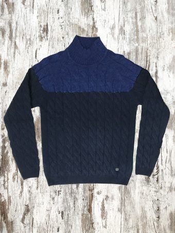 A20M031    2802 SWEATER HOLME - 85%AC 15%WO Blue - Dark Blue