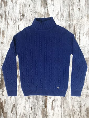 A20M033    0028 SWEATER STOCCOLMA - 64%AC 28%WO 8%NY Blue